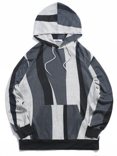ZAFUL Colorblock Pattern Knit Hoodie - Multi Xl