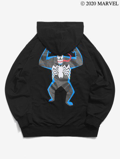 Marvel Spider-Man Cartoon Venom Pattern Hoodie - Black M