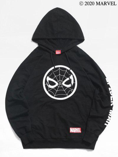 Zaful / Marvel Spider-Man Icon Letters Print Pullover Hoodie