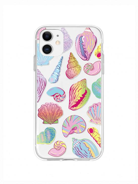 sale Sea Shell Conch Print Phone Case For IPhone - YELLOW IPHONE 11