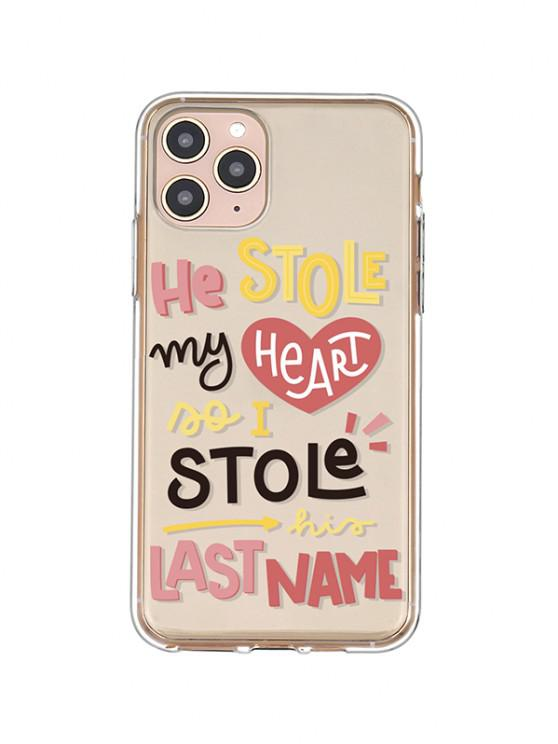 women's Letters Transparent Phone Case For IPhone - ROSE IPHONE 11PRO