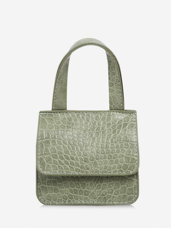 chic Square Cover Small Hand Bag - LIGHT GREEN