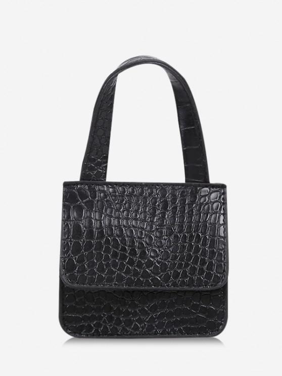 unique Square Cover Small Hand Bag - BLACK