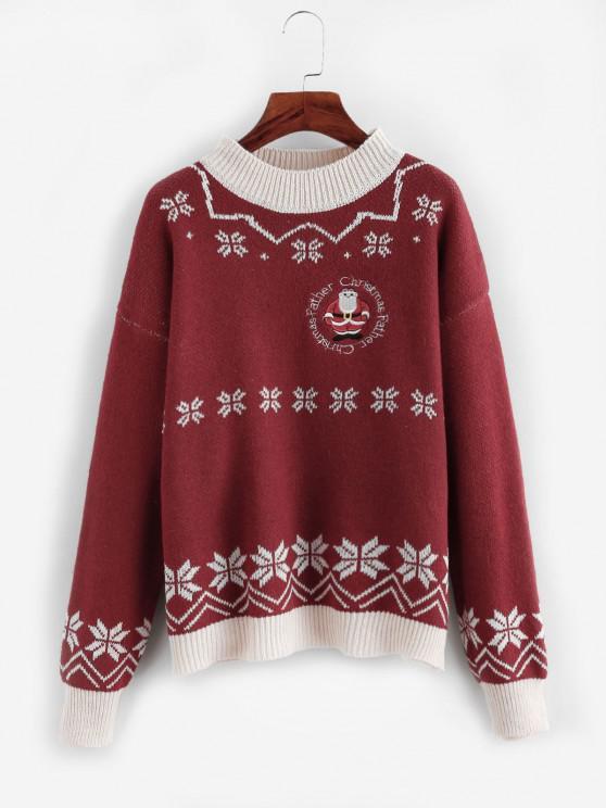 Maglione con Motivo di Natale - Rosso Taglia unica