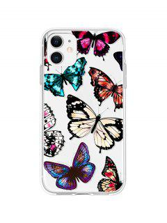 Butterfly Print TPUPhone Case For IPhone - Black Iphone 11