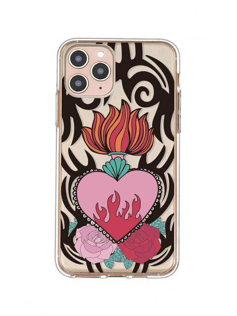 womens Flame Flower Print Phone Case For IPhone - BLACK IPHONE 11PRO Mobile