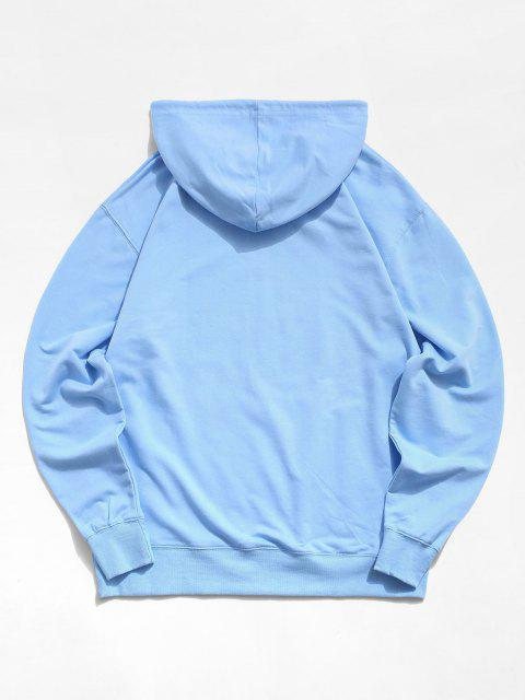new Funny Face Rose Graphic Hoodie - LIGHT SKY BLUE XL Mobile