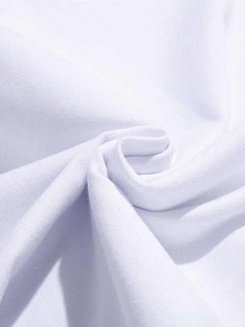 Coole Sturmdruck Grafik Beutel Tasche Kapuze Hoodie - Weiß L Mobile