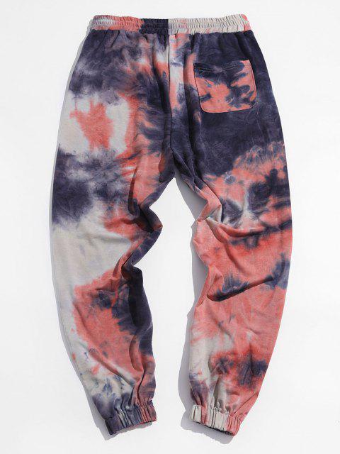 Pantalones Deportivos Estampado Teñido Anudado - Multicolor 2XL Mobile