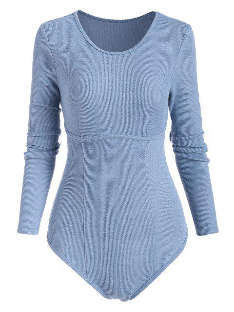 ZAFUL Body Tricoté Design Sous-Poitrine - Bleu M Mobile