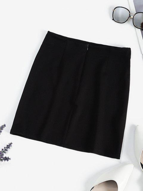 new Oriental Dragon Embroidered Mini Skirt - BLACK L Mobile