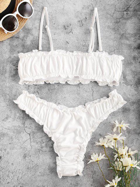 Costume da Bagno Bikini a Fascia con Volant di ZAFUL - Bianca M Mobile