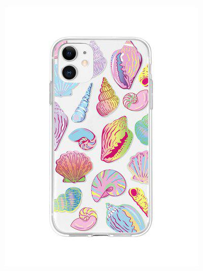 Sea Shell Conch Print Phone Case For IPhone - Yellow Iphone 11