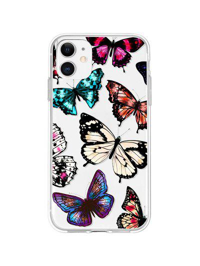 Butterfly Print TPU Phone Case For IPhone - Black Iphone 11