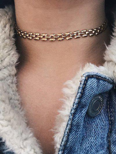 Chain Simple Choker Necklace - Golden
