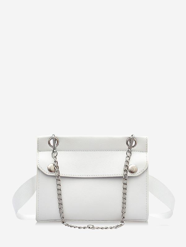 Chain Embellished Convertible Strap Mini Crossbody Bag