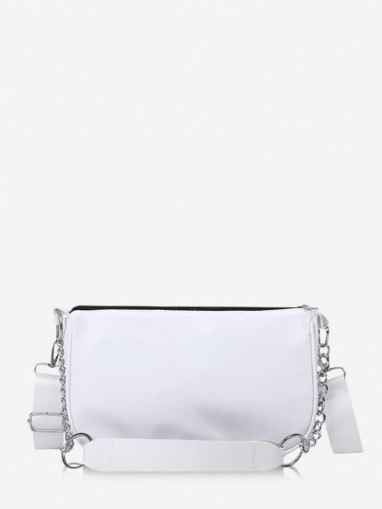 online Brief Chain Crossbody Shoulder Bag - WHITE