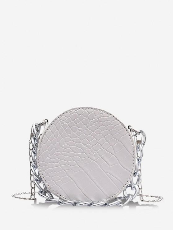 new Chain Mini Crossbody Canteen Bag - WHITE