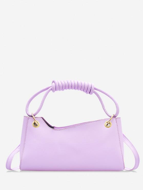 women French Style Wrap Handle Handbag - MAUVE