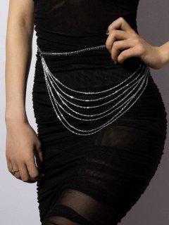 Brief Multilayered Waist Chain - Silver