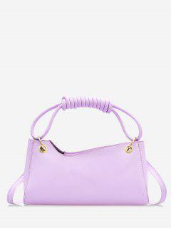 French Style Wrap Handle Handbag - Mauve
