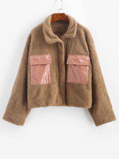 Manteau Teddy En Fausse Laine Avec Poche à Rabat - Café M