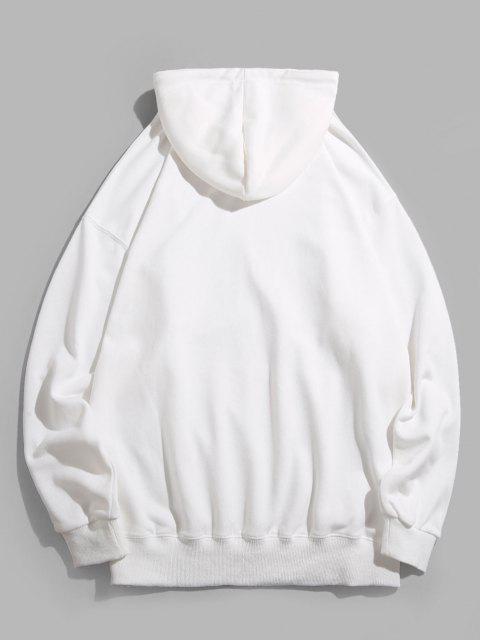 Chinesische Schriftzeichen Kapuze Hoodie - Weiß 2XL Mobile