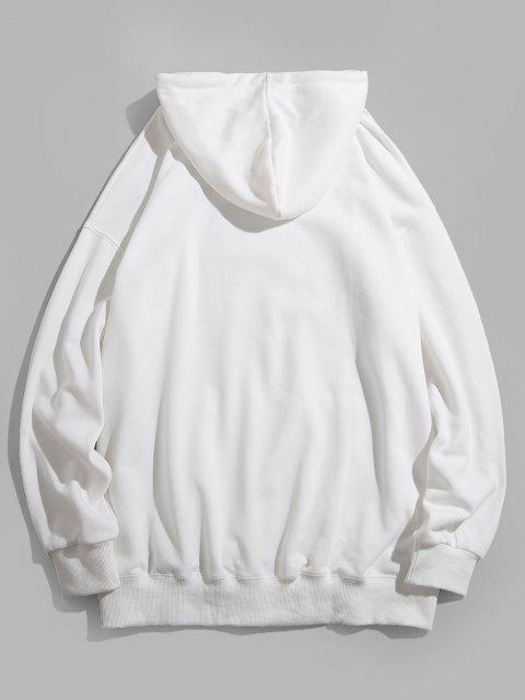 latest Cartoon Bear Graphic Pouch Pocket Casual Hoodie - WHITE M Mobile