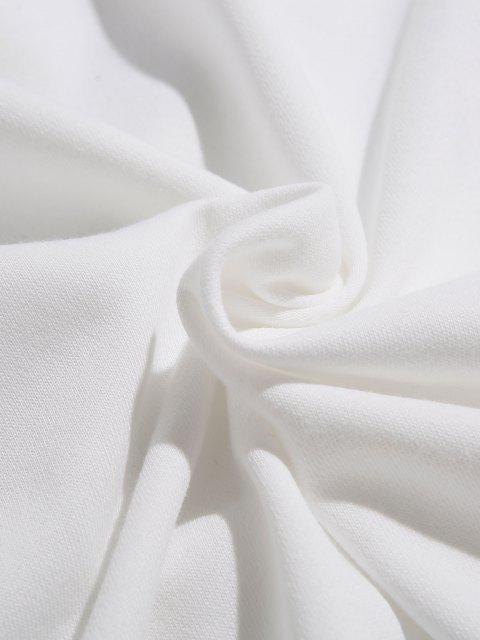 Sweat à Capuche Décontracté Graphique à Goutte Epaule - Blanc M Mobile