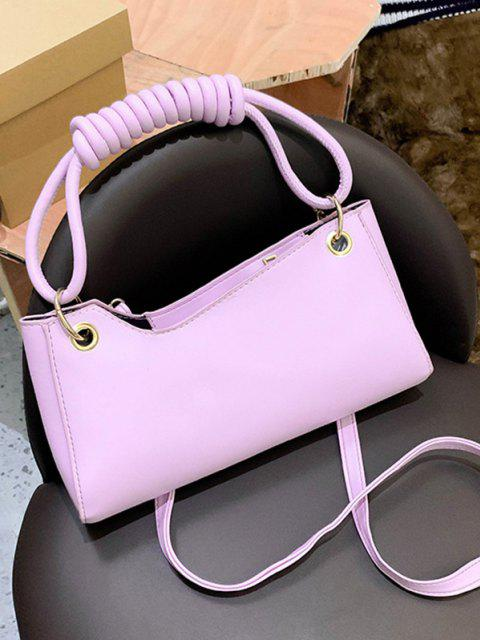 women French Style Wrap Handle Handbag - MAUVE  Mobile