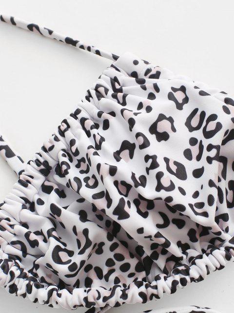 Bikini de Tanga con Lazo de Leopardo ZAFUL - Blanco S Mobile