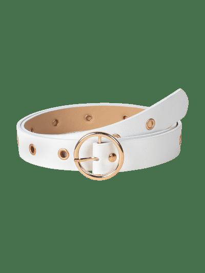 Grommet Circle Pin Buckle Belt