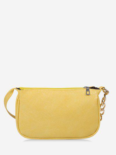 Solid Chain Shoulder Bag - Sun Yellow