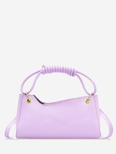 French Style Wrap Handle Handbag - Mauve
