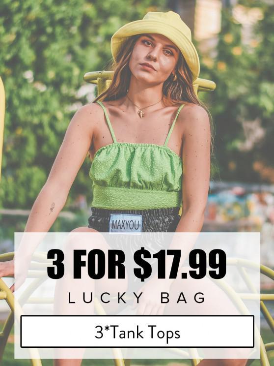 ZAFUL Lucky Bag - Womenswear 3*Tank Tops - Limited Quantity - متعدد S