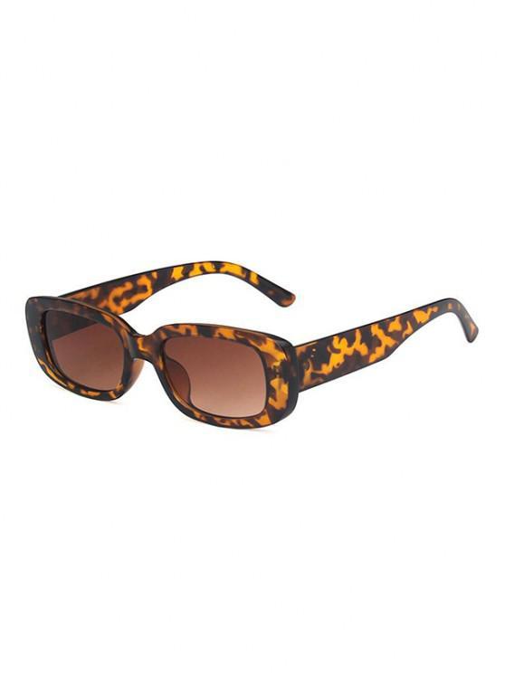 sale Retro UV Protection Rectangle Sunglasses - LEOPARD