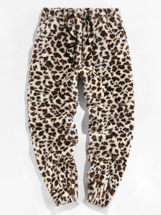 ZAFUL Pantalones de Piel Sintética con Estampado de Leopardo - Multicolor L