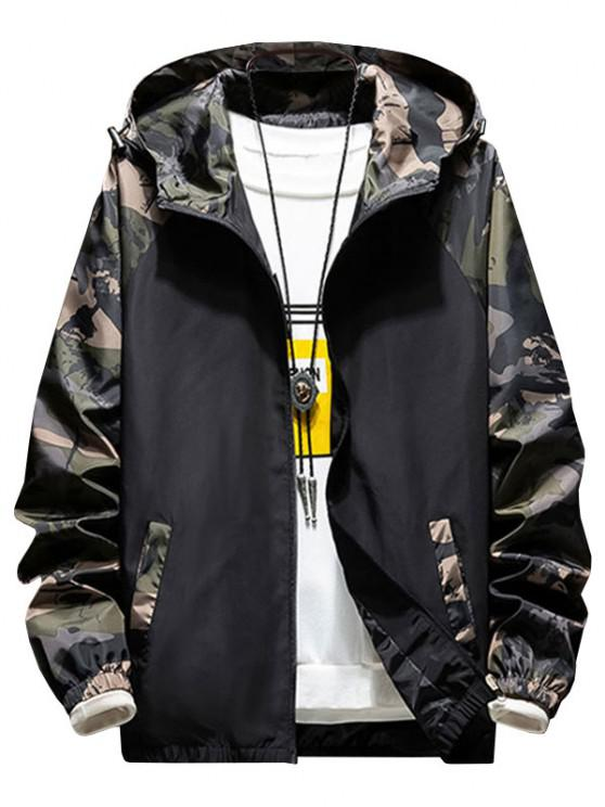 best Hooded Raglan Sleeve Camouflage Print Jacket - ARMY GREEN 3XL