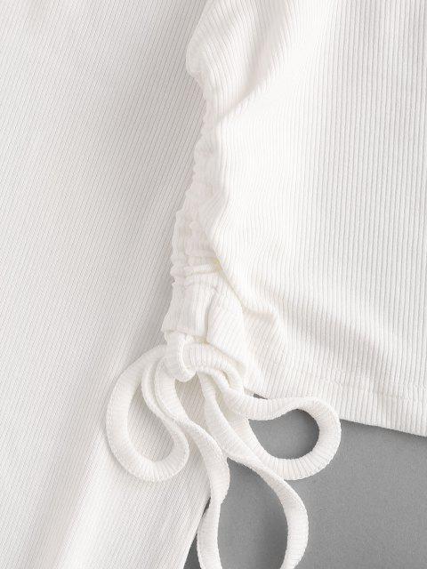 Definido por uma dispersão de folhas de palmeira tropical e centro atado, este traje de banho fornece forma e apoio graças às suas alças ajustáveis e estofamento removível nas xícaras. Para completar, com o kaftan coordenador. - Branco L Mobile
