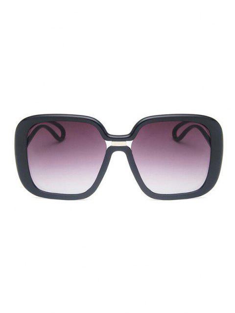 affordable Square Gradient Hollow Temple Sunglasses - BLACK  Mobile