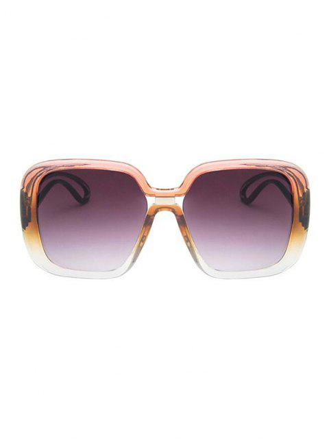 buy Square Gradient Hollow Temple Sunglasses - PINK  Mobile