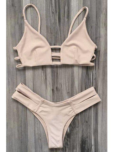 Bandage Bikini Badeanzug - Fleischfarben L Mobile