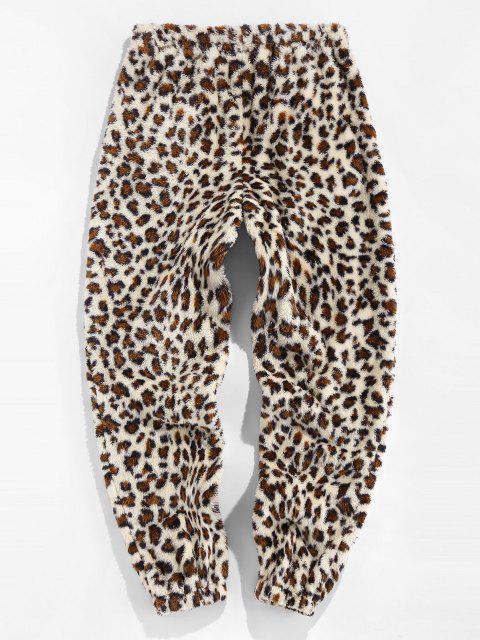 ZAFUL Pantalones de Piel Sintética con Estampado de Leopardo - Multicolor M Mobile