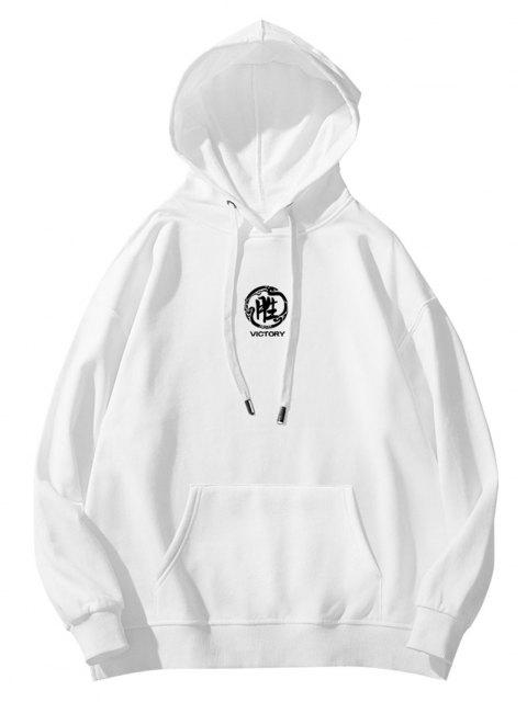 buy Flower Panda Samurai Victory Graphic Hoodie - WHITE M Mobile