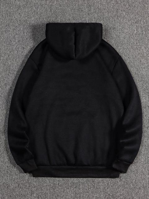 hot The Empress Card Pattern Fleece Hoodie - BLACK M Mobile