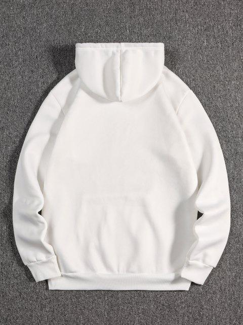 shops The Empress Card Pattern Fleece Hoodie - WHITE S Mobile