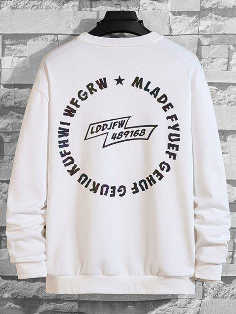 fancy Letter Graphic Pullover SweatShirt - WHITE XS Mobile