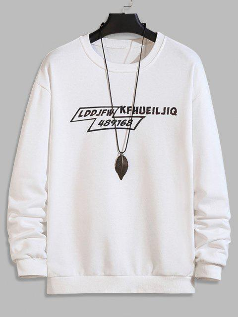 unique Letter Graphic Pullover SweatShirt - WHITE S Mobile