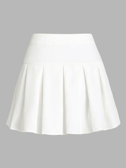 new ZAFUL Pleated Mini Skirt - WHITE S Mobile