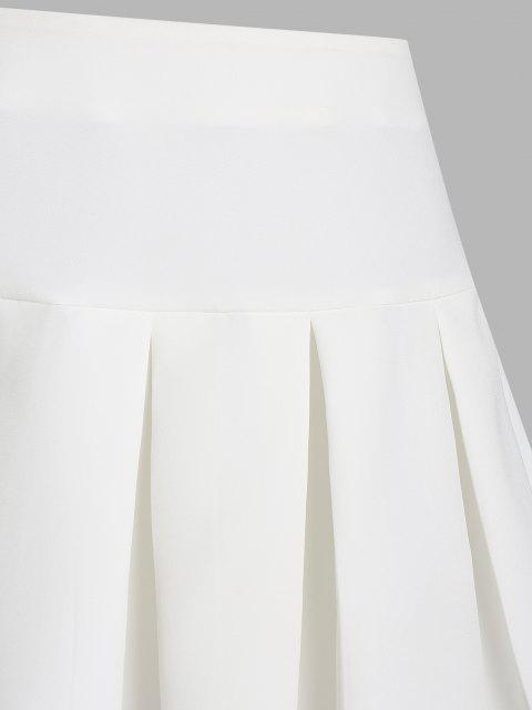 fancy ZAFUL Pleated Mini Skirt - WHITE XL Mobile